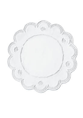 Incanto White Lace Charger