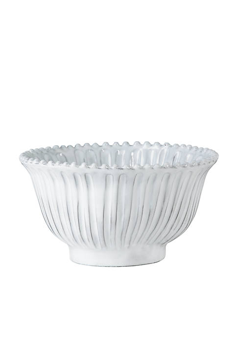 Vietri Incanto White Stripe Small Serving Bowl
